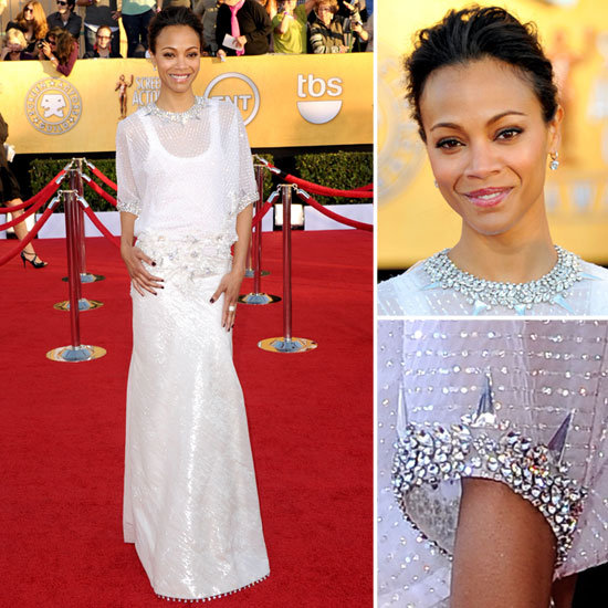 Zoe Saldana at the SAG Awards 2012