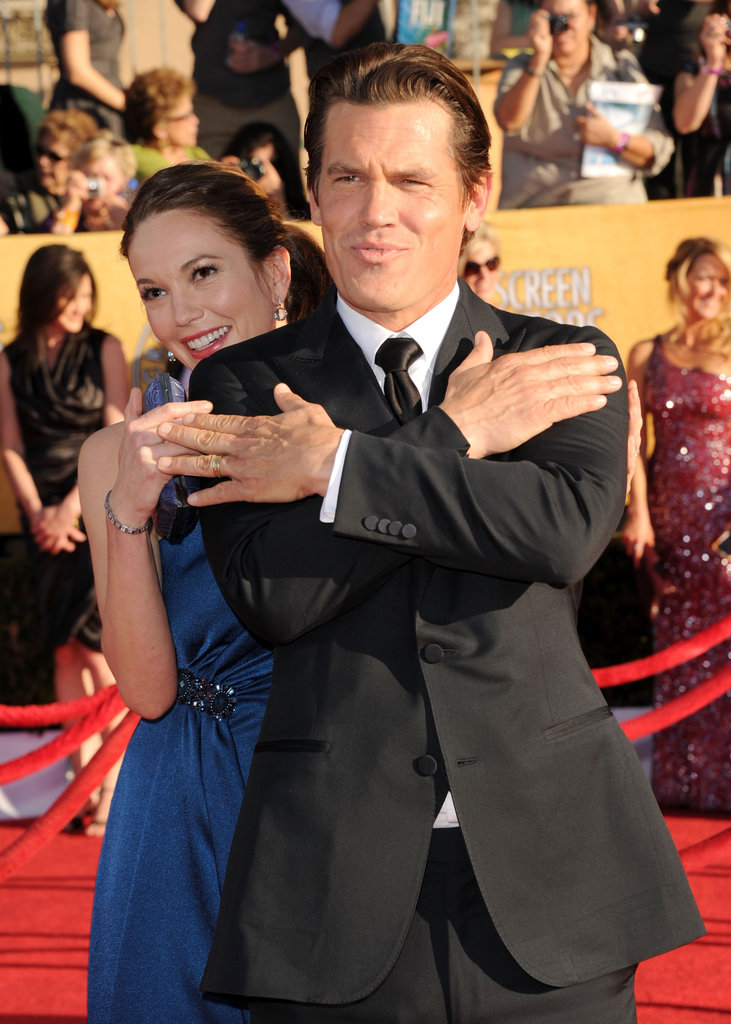 Diane Lane and Josh Brolin have some fun at the SAG Awards.