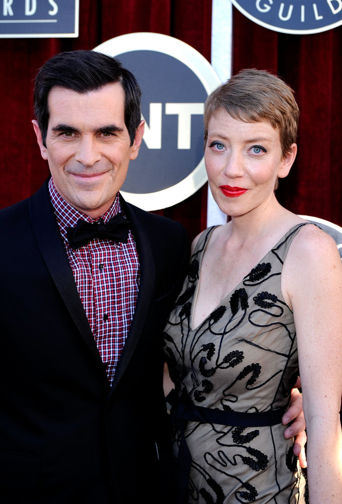 Ty Burrell and his wife arrive.