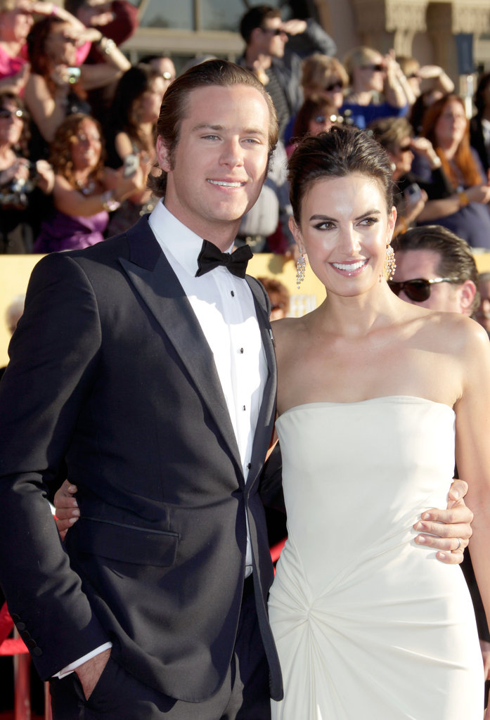 Armie Hammer and Elizabeth Chambers keep close at the SAGs.