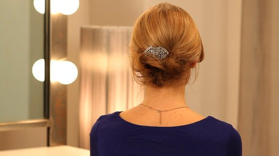 Create a Sweet, Soft Chignon For Fine Hair