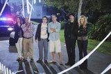 Christa Miller, Ian Gomez, Dan Byrd, Brian Van Holt, Bob Clendenin, and Busy Philipps in Cougar Town. Photos copyright 2012 ABC, Inc.