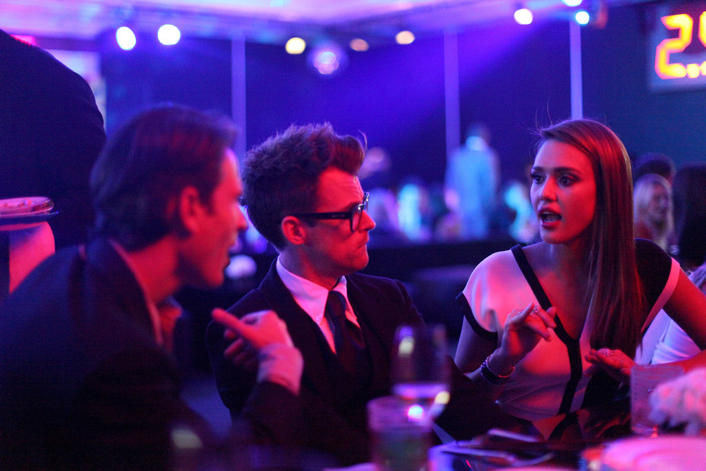 Jessica Alba talks to Brad Goreski during a Chanel event in Las Vegas.  David X. Prutting/BFAnyc.com