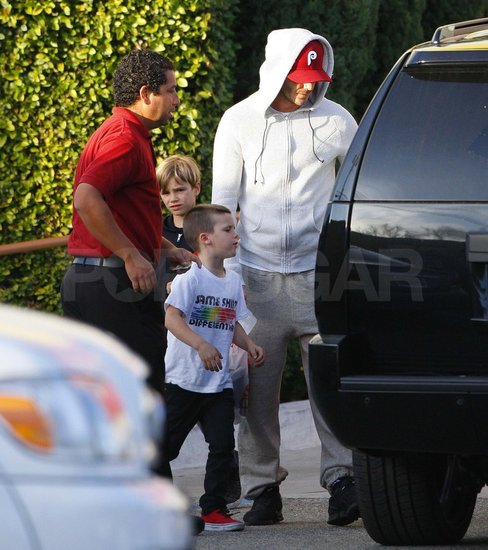 David, Cruz, and Romeo Beckham at Samy's Camera store.
