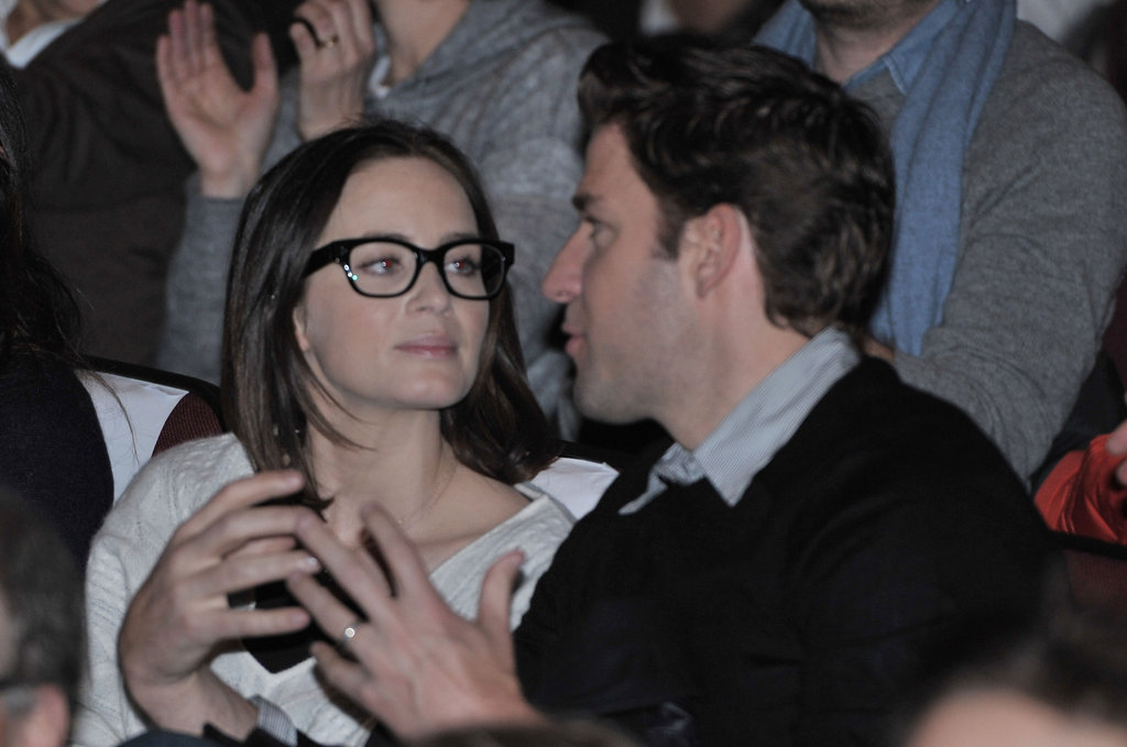 Emily Blunt put on glasses to watch John Krasinski's new film, Nobody Walks.