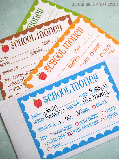 School Money Labels (Free)