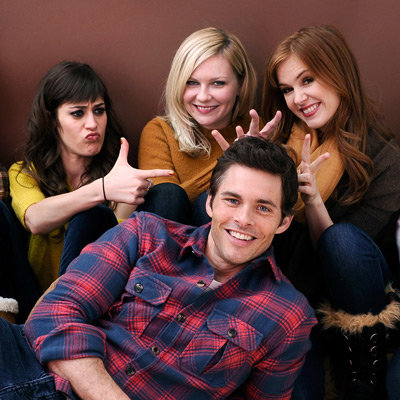Bachelorette Portrait Session at 2012 Sundance with Kirsten Dunst, James Marsden, Isla Fisher, Lizzy Caplan