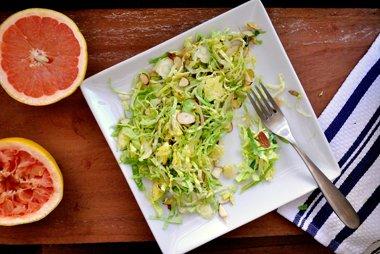 Shredded Brussels Sprout Salad With Cumin-Grapefruit Vinaigrette