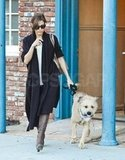 Eva Mendes with Ryan Gosling's dog.