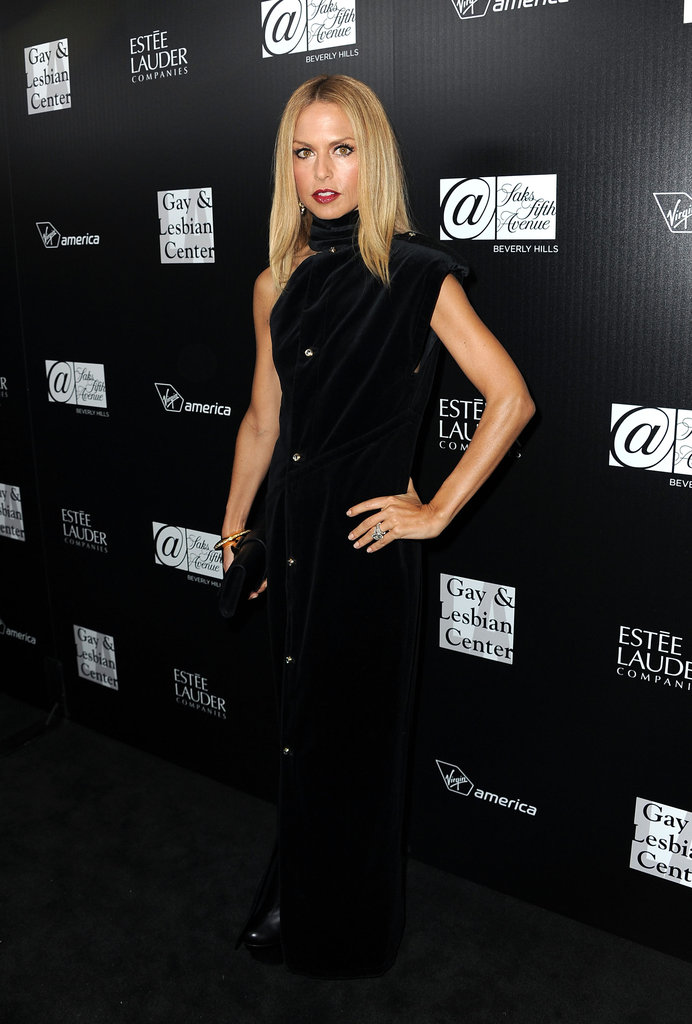 Rachel Zoe wore a one-shoulder dress to an event benefiting homeless gay and lesbian youth in LA.