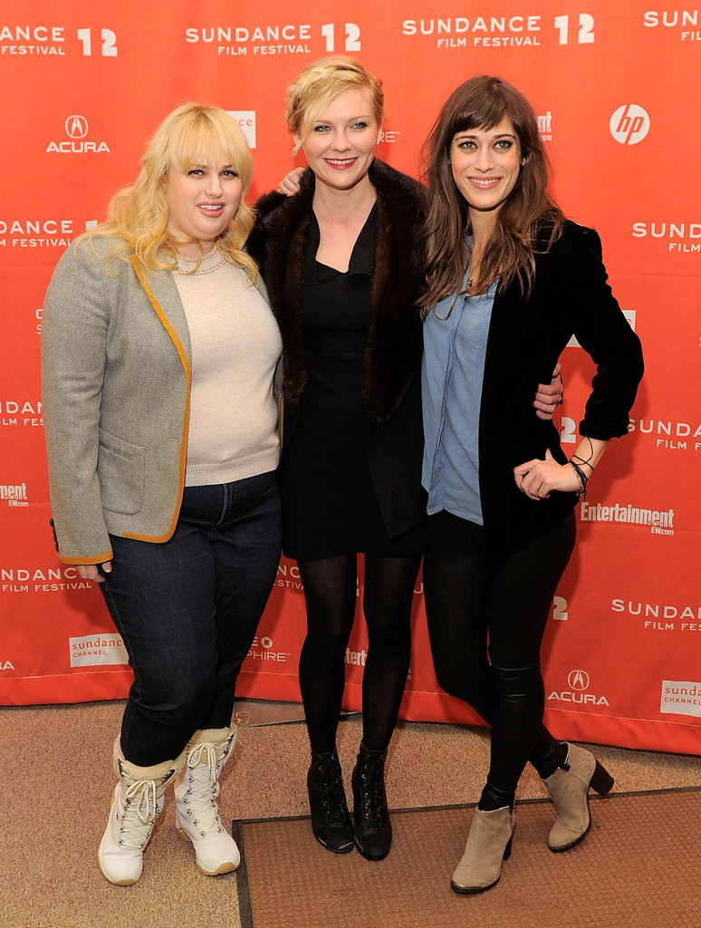 Kirsten Dunst joined Lizzy Caplan and Rebel Wilson at the Sundance Film Festival premiere of Bachelorette.