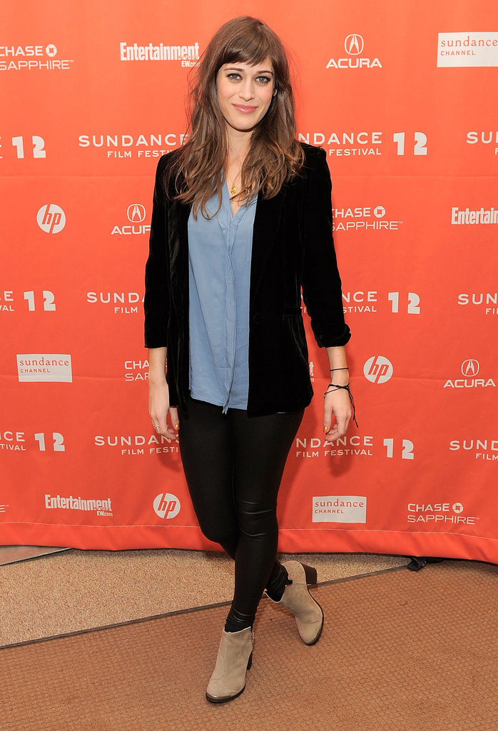 Lizzy Caplan was stylish for her Sundance movie premiere.