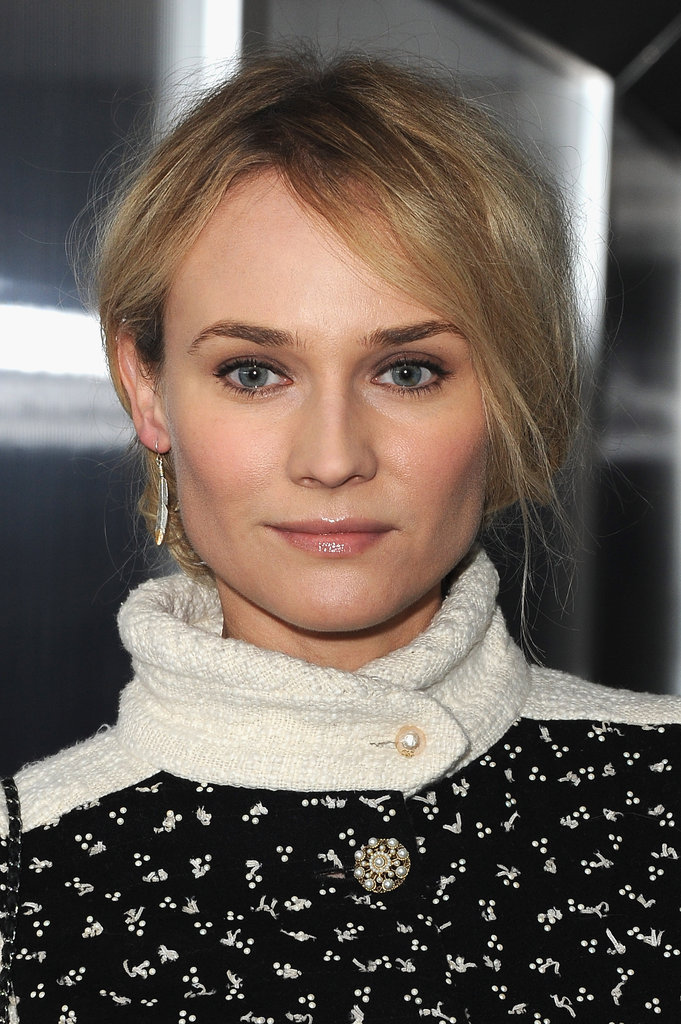 Diane Kruger was buttoned all the way up for Chanel's 2012 Haute Couture fashion show.
