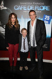 Vanessa Paradis, Marin Gerrier, and Jean-Marc Vallée on the red carpet in Paris.