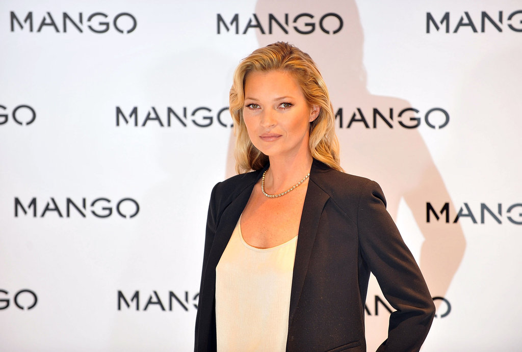 Kate Moss posed for a picture on behalf of Mango.