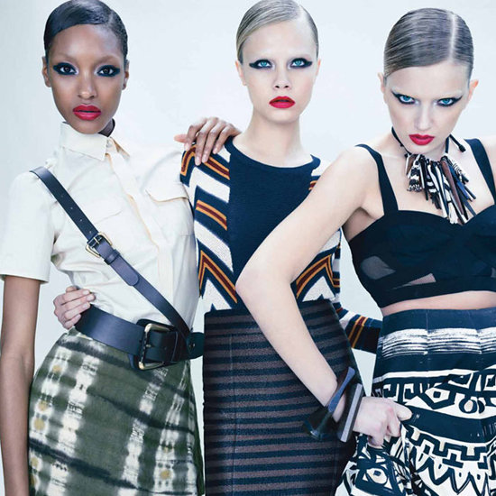 Burberry Models Lily Donaldson, Jourdan Dunn and Cara Delevingne in W Magazine