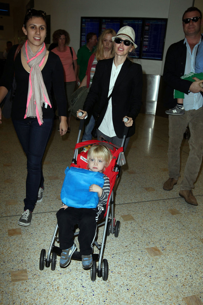 Naomi Watts and Samuel Schreiber landed in Sydney together.