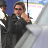 Brad Pitt entered the Beverly Hills Hotel.