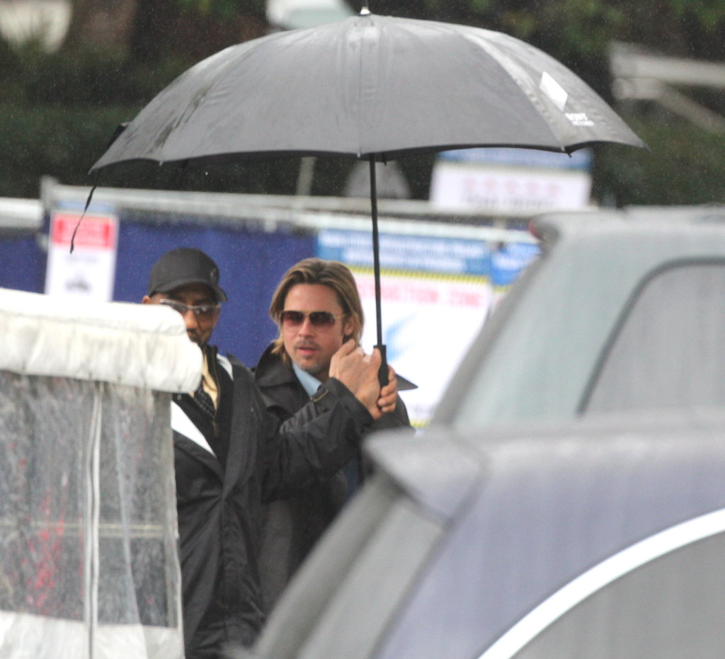 Brad Pitt went to the Beverly Hills Hotel on the day of the Oscars nominations.