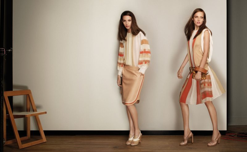 Chic silhouettes and nude tones for Chloe's Spring '12 lineup. Source: Fashion Gone Rogue