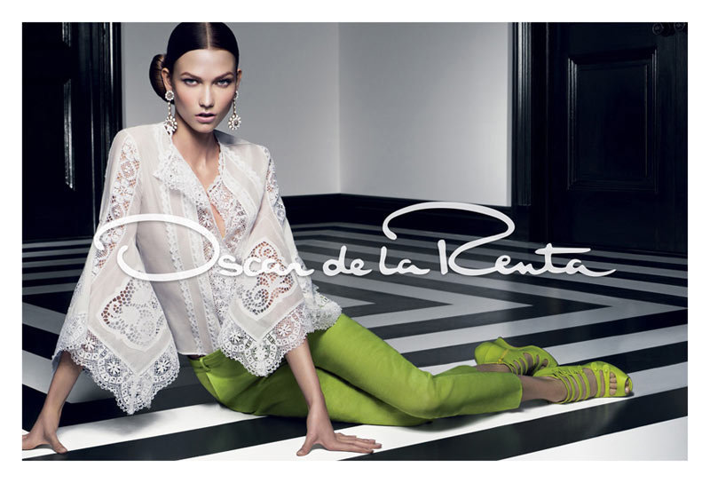 Karlie Kloss for Oscar de la Renta, Spring 2012 Source: Fashion Gone Rogue