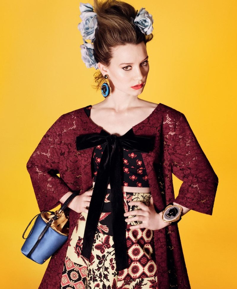 Mia Wasikowska for Miu Miu Spring 2012 Source: Fashion Gone Rogue