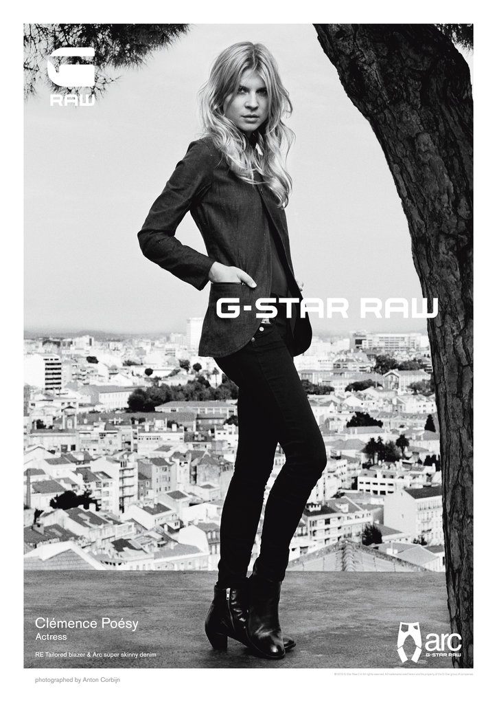 Clemence Poesy is the face of G-Star Raw's Spring '12 ad campaign.