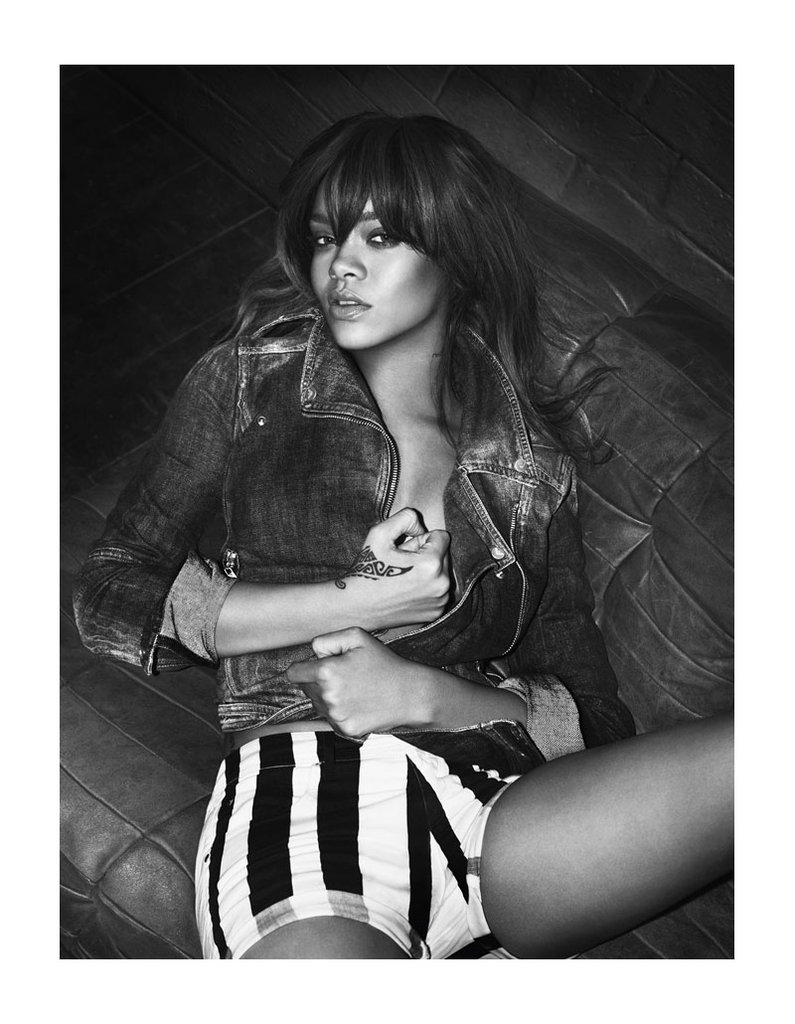 Rihanna vamps it up for the Emporio Armani Underwear Spring '12 campaign. Source: Fashion Gone Rogue