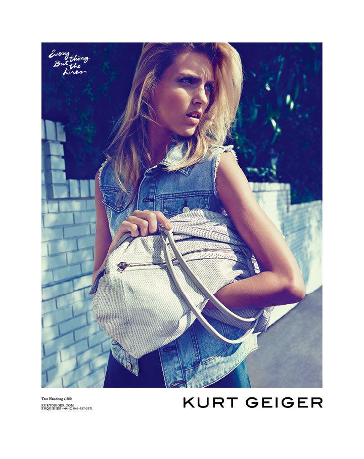 Anja Rubik for Kurt Geiger Spring '12 Source: Fashion Gone Rogue