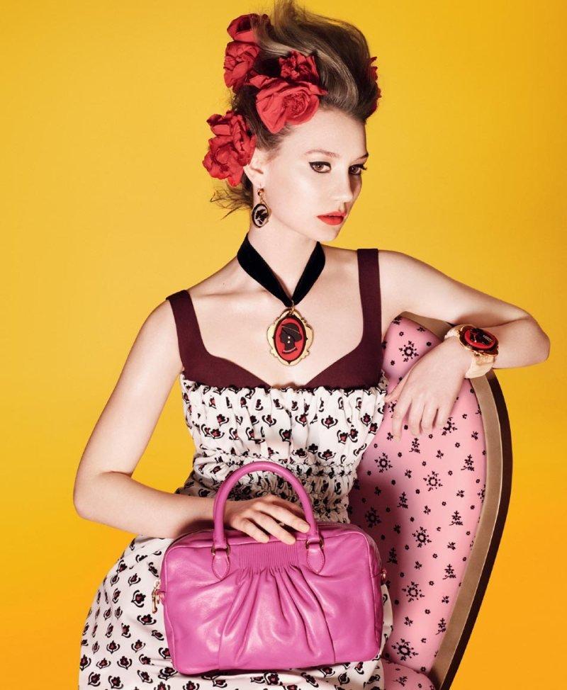 Mia Wasikowska for Miu Miu Spring 2012 Source: Fashion Gone Rogue