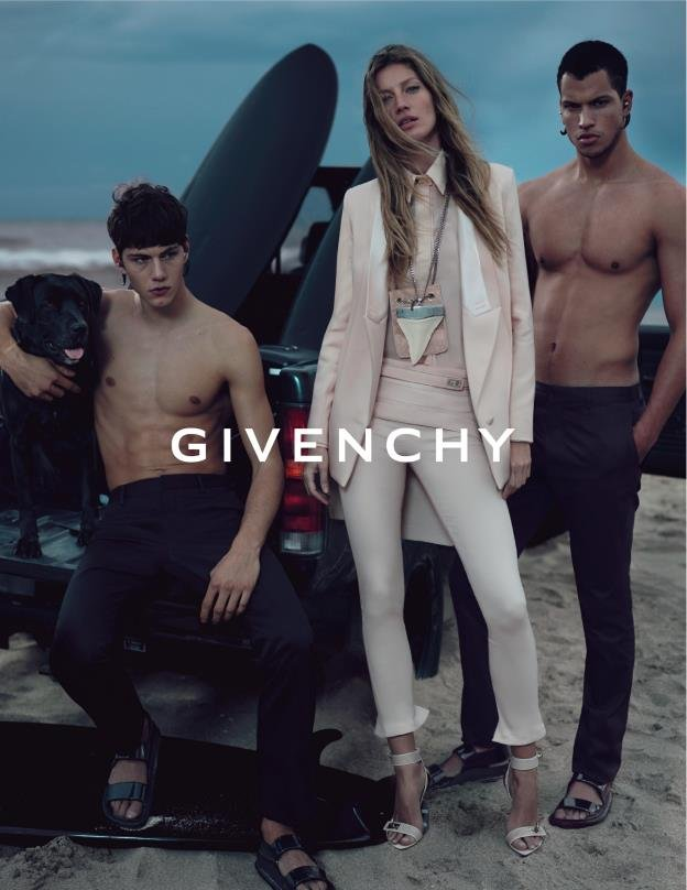 Gisele sports formfitting blush pinks in this Givenchy Spring '12 ad. Source: Fashion Gone Rogue