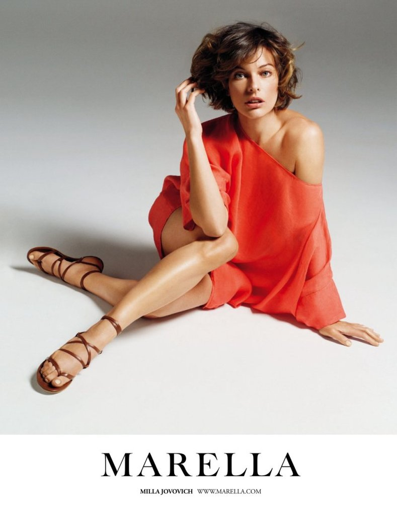 Milla Jovovich is the face of Marella. Source: Fashion Gone Rogue