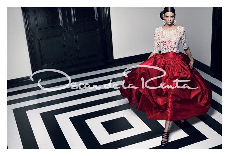 Karlie Kloss for Oscar de la Renta, Spring 2012 Source: Fashion Gone Rogue