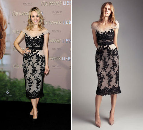 Rachel McAdams Wears Collette Dinnigan and Lover on the Promo Tour for The Vow