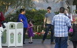 Tom Cruise and Suri Cruise assessed their options at Disneyland.