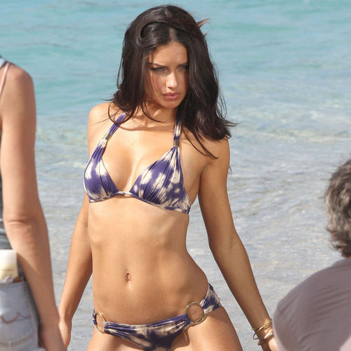 Adriana Lima Bikini Pictures in St. Barts For Victoria's Secret