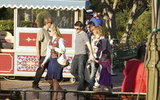 Tom Cruise and Suri Cruise had an escort at Disneyland.