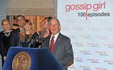 Michael Bloomberg spoke at a Gossip Girl party.