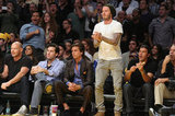 David Beckham stood up to cheer.
