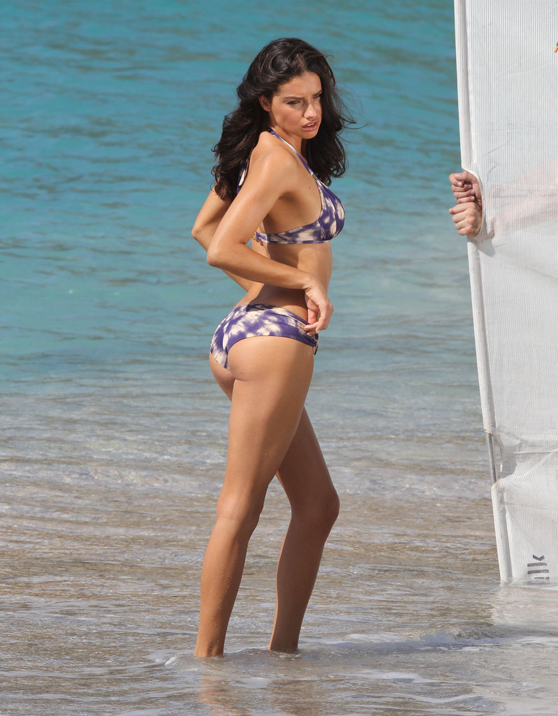 Adriana Lima posing in a bikini for Victoria's Secret.