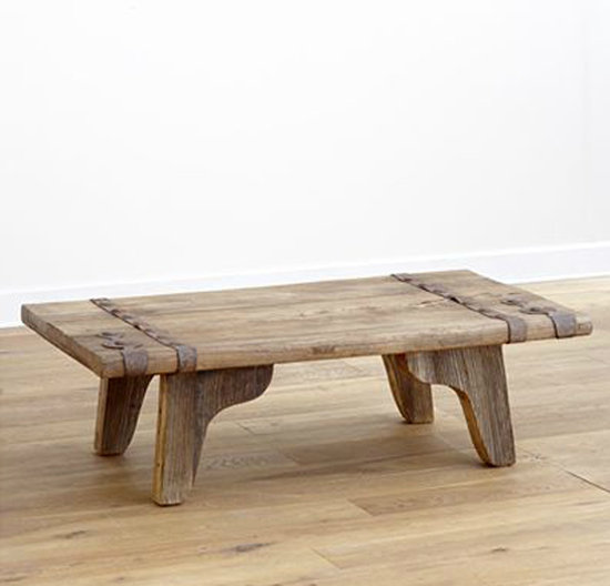 The handcrafted Youkoso Coffee Table (now $370) is made of reclaimed hardwood from antique doors, so each rustic table is both eco-friendly and one-of-a-kind.