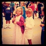 Lauren shared this snapshot from her first day of kindergarten. Source: Twitter user laurenconrad