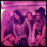 Lauren Conrad celebrated New Year's Eve in Las Vegas with girlfriends. Source: Twitter user laurenconrad