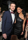 Justin Timberlake, looking dapper in a bow tie, posed with Nicole Scherzinger at GQ's Men of the Year party in 2011.