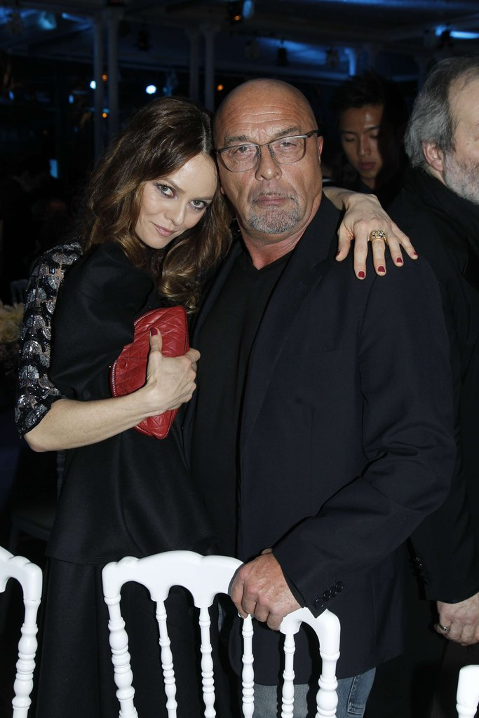 Vanessa Paradis said hello to friend Jean Baptiste Mondino.