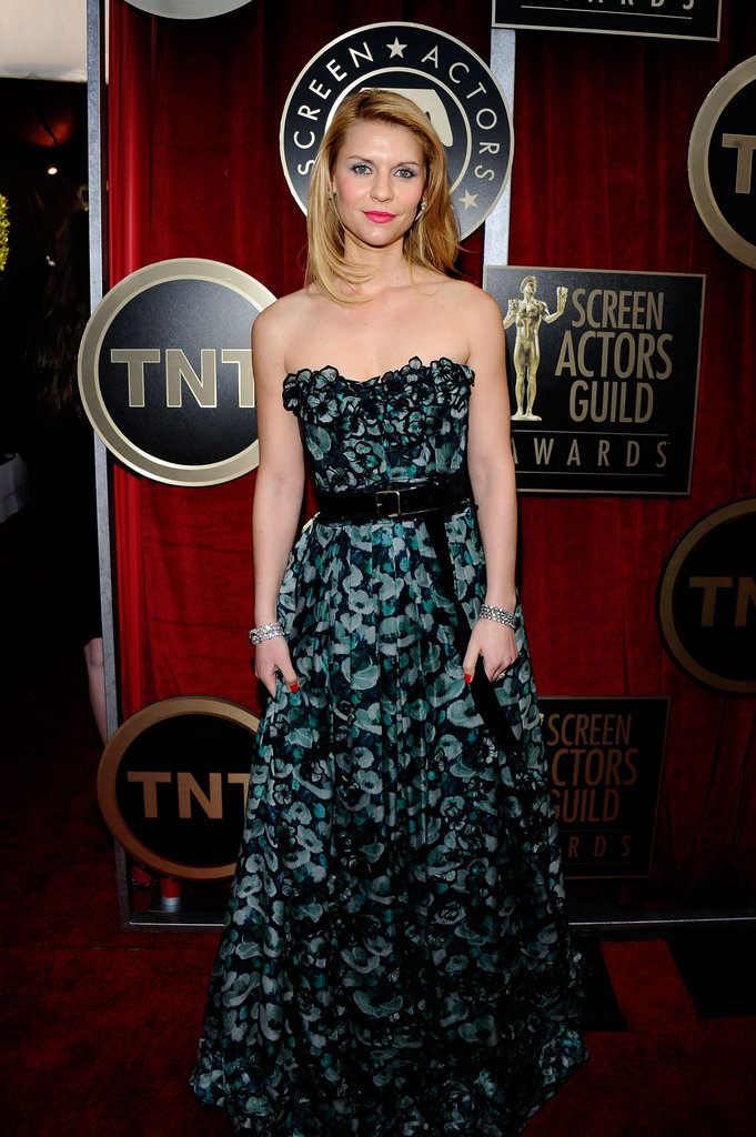 A ladylike Claire Danes chose a floor-length, floral Louis Vuitton number in '11.