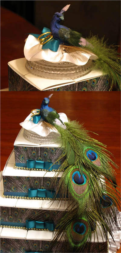Peacock Feather Wedding Cake Topper Designs