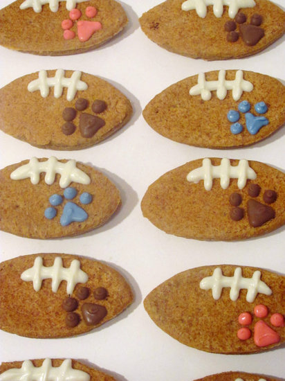 These football-shaped cookies may seem like an indulgence, but they are corn-, wheat-, and soy-free — perfect for pups with tender tummies.