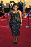 Amber Riley in Badgley Mischka