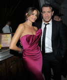 Sofia Vergara gave Jean Dujardin an up close look at her pink Marchesa dress.